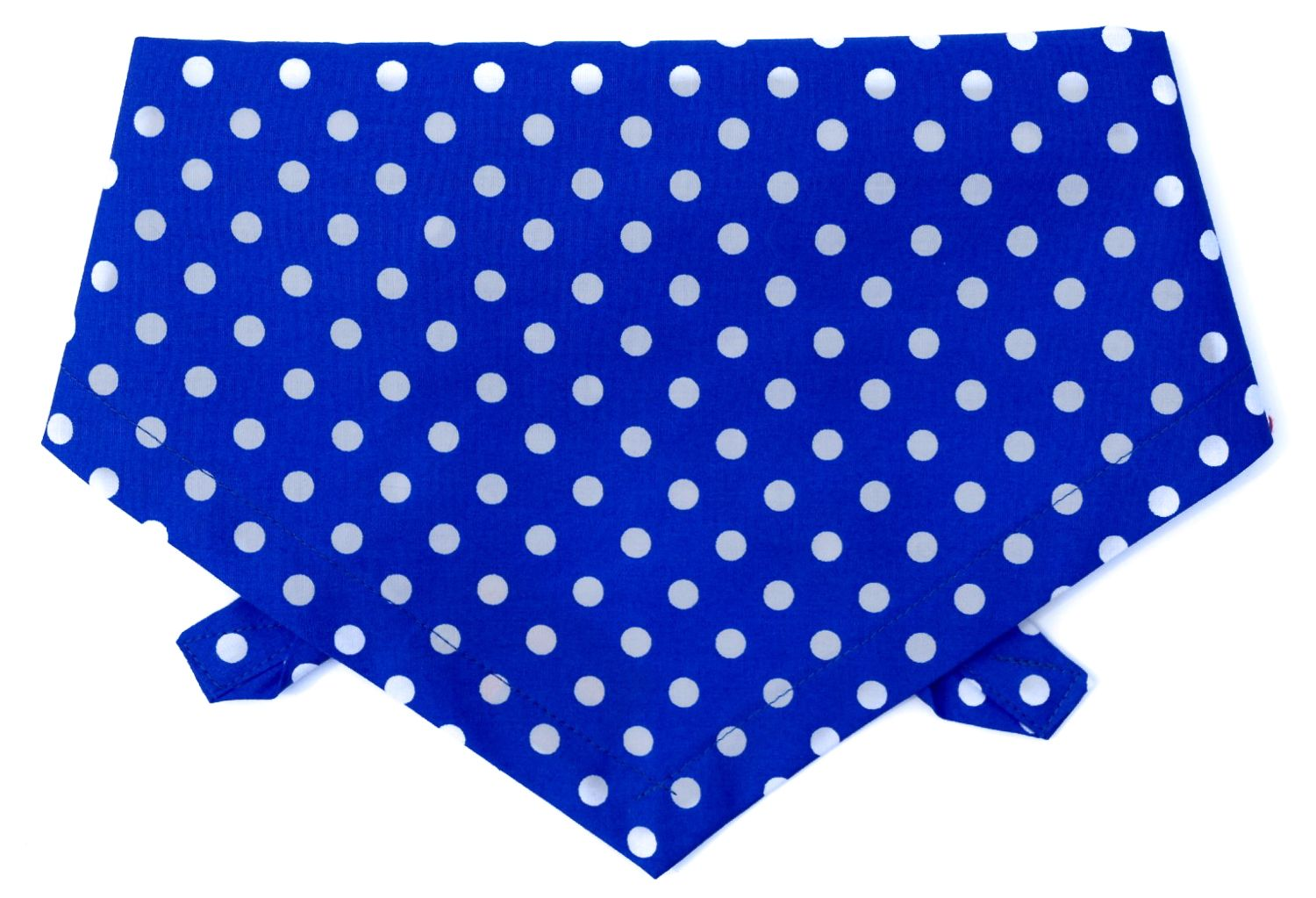 POLKA DOT DOG BANDANA (BLUE) BY DUDIEDOG BANDANAS
